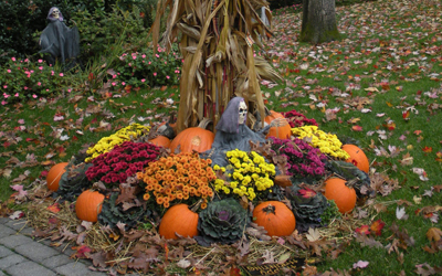 Halloween landscape design company Bergen County NJ